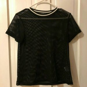 LIKE NEW Young & Reckless mesh shirt!